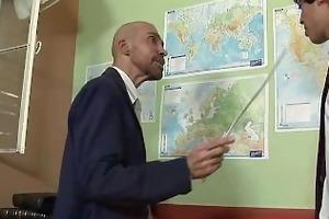 avid mature teacher blowjobs his twink student