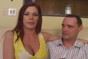 beautiful redhead acquires hard cock from recent