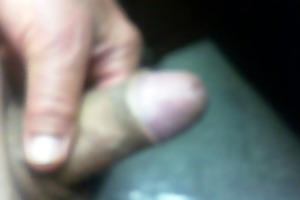 66 yr old older man plays with his penis to make