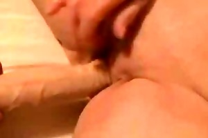 old granny cums fucking a marital-device and
