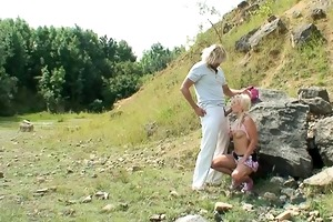 hot swedish girl drilled hard outdoors !