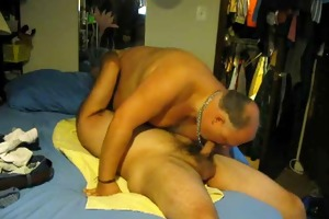 daddy gets his boy (willy) off in about 33minutes