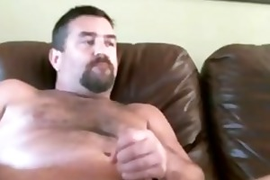 daddy with a large jock on webcam
