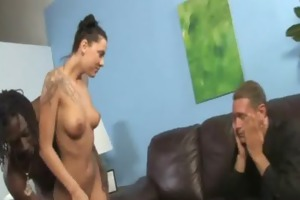 his teen daughter is curious about a big black