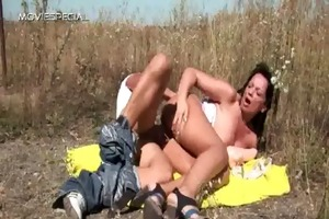 horny milf acquires drilled hard outdoor