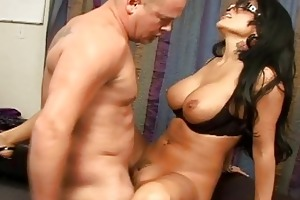 youthful breasty brunette hair acquire a shlong