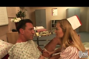 breasty blonde slut nurse in uniform copulates