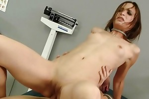 hawt youthful lady anally drilled by her doctor