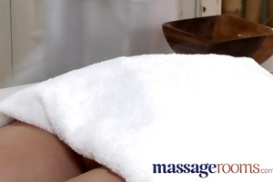 massage rooms youthful petite girl takes each