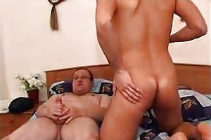 old fatty enticed a student for dirty fucking