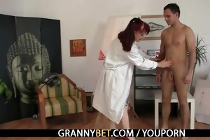 horny lady jumps on new cock