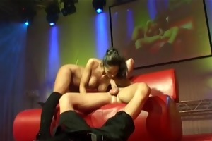 youthful breasty sex on public stage