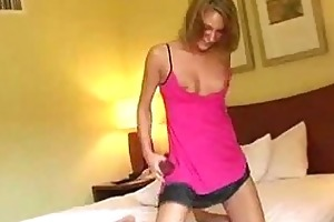 youthful and sexy honey masturbating