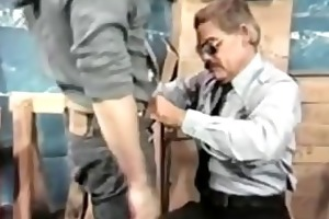 a thief receives spanked by daddy officer