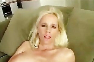 large breasted milf swallows every drop of cum