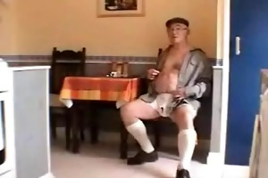 very sexy white haired old man and wife