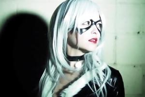 tessa fowler as black cat (teaser)