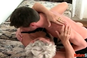 lustful granny acquires a taste of fresh cock