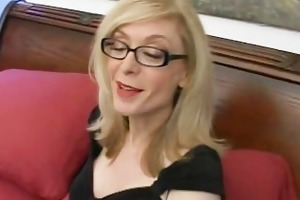 golden-haired d like to fuck in glasses licking