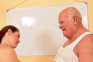 grandpa mireck and preggo slut