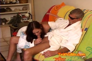 girlfrind caught engulfing old mans cock