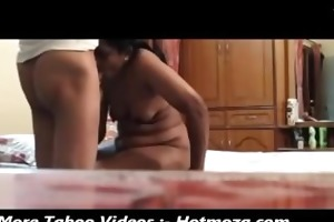 indian mom giving blowjob to her step son -