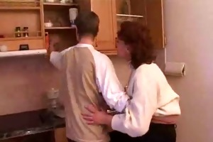stepmom &; stepson have a sex on the kitchen