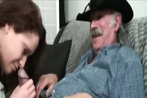 he is old but his cock is giant and ready