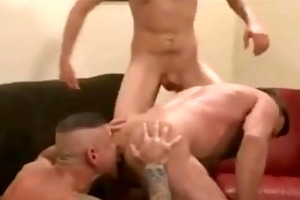 two hot hung daddys rim,suck and raw fuck and