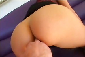 young beauty takes giant cock up her ass