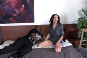 mother creampied by darksome man whilst son is