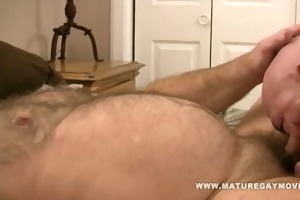 stocky mature stuff his friends wazoo with cock