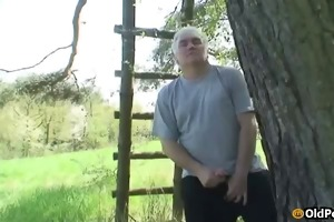 dildoing and fucking outdoors