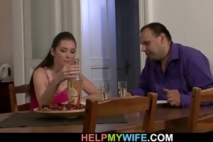 sultry wife cheats husband with pizza-guy