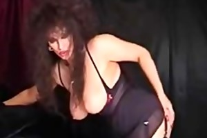 classic busty cougar smoking and toying aged
