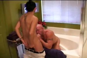 hot baths fuck with older-younger men