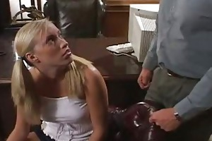 blond schoolgirl sucking very old teacher