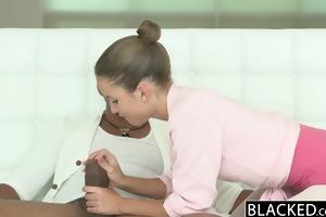blacked dark brown legal age teenager takes