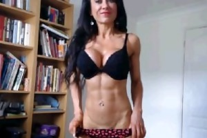 fit gal on webcam