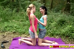 sexy lesbo teens horny outdoors