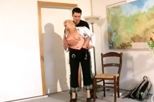 older russian teacher with hairy pussy engulf