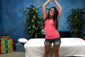 18 year old abby receives drilled hard from