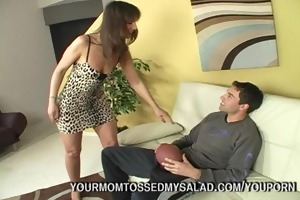 filthy milf tossing threesome salad