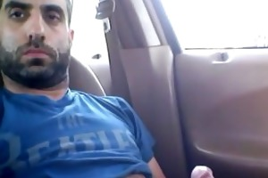 daddy caught jerking in his car in the park