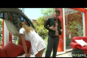hot latin massage whore in uniform bonks anally