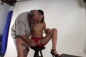 bushy daddy fucks his model - str8