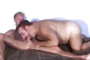 blonde twink getting his cock sucked by old