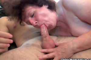 grandma can a warm cum load on her old body