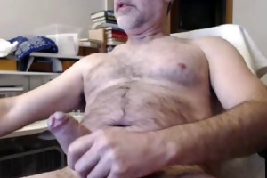 hairy daddy large thick uncut nice-looking cock