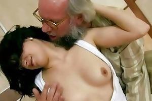 granddad fucks his young girlfriend